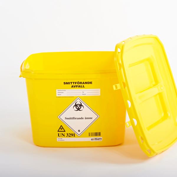 Behållare till smittförande avfall
