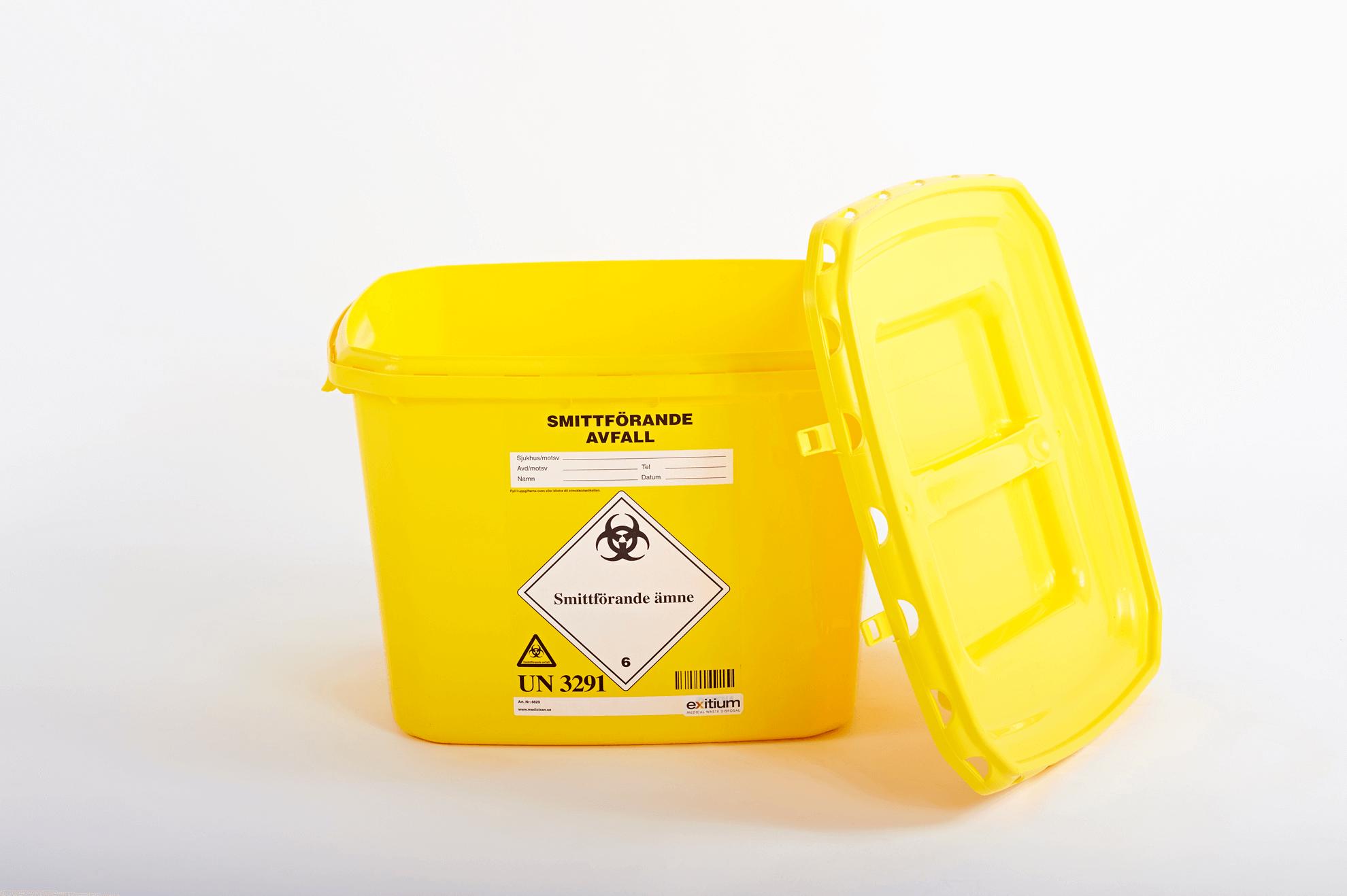 Behållare för smittförande avfall