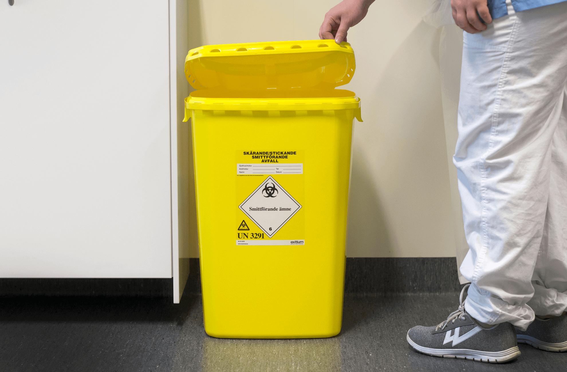 Behållare smittförande avfall