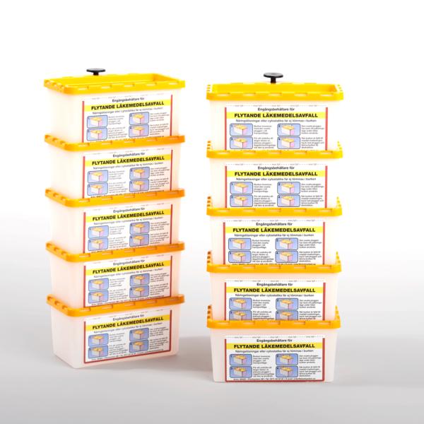 Behållare för flytande läkemedelsavfall, 0,45 Liter 10-pack